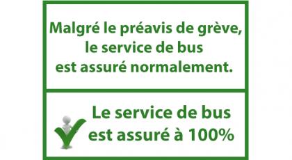 100% du service assuré