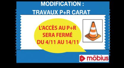 Travaux P+R Carat